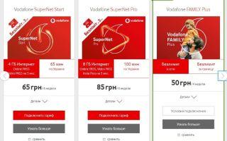 Как поменять тариф абоненту Водафон