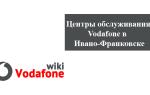 Магазины и центры обслуживания клиентов Водафон в Ивано-Франковске